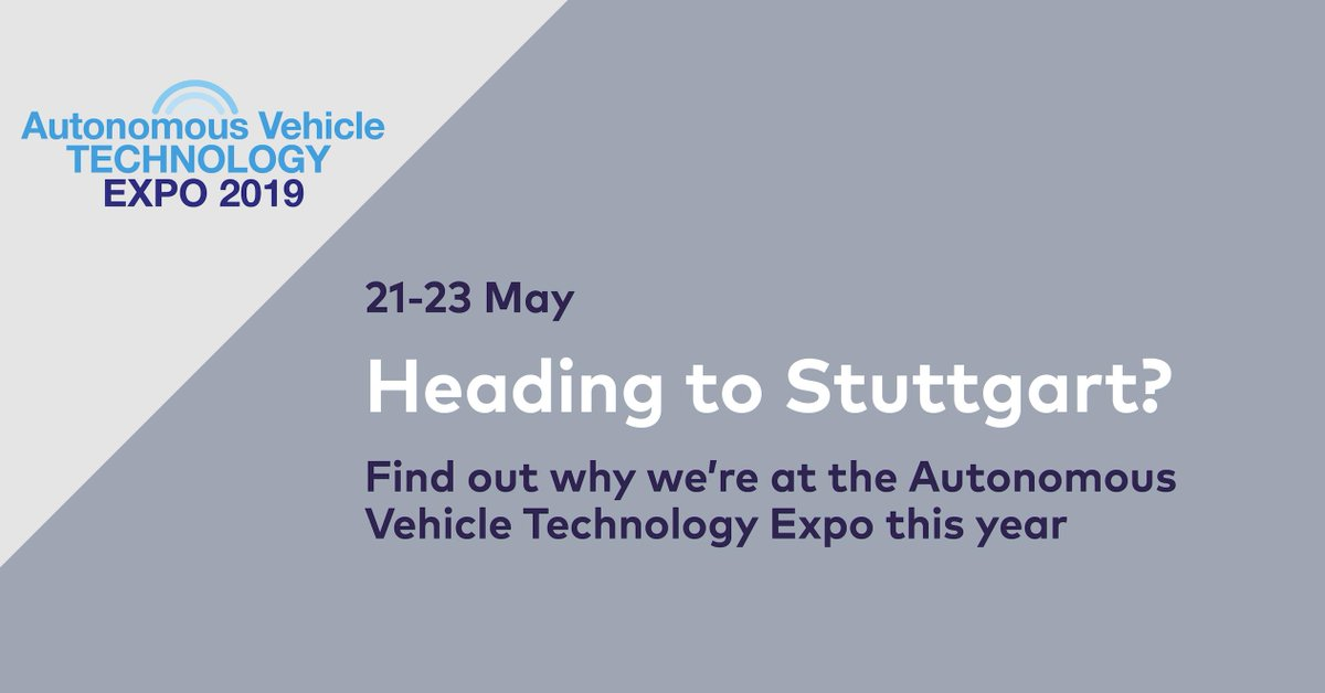Find out why we are at the #avtexpo in Stuttgart this week here: https://bit.ly/2WbgRoP   Join us in Hall 6 to discuss #connected and #automated capabilities in the #UK.  #selfdrivingrevolution #CAV #avtexpo