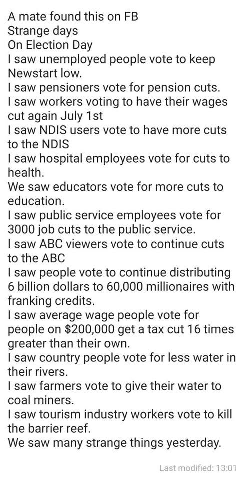 Things you discover on Facebook A strange world we live in #LiarFromTheShire #AusVotes2019 #Auspol <br>http://pic.twitter.com/Pync0ZDO6g
