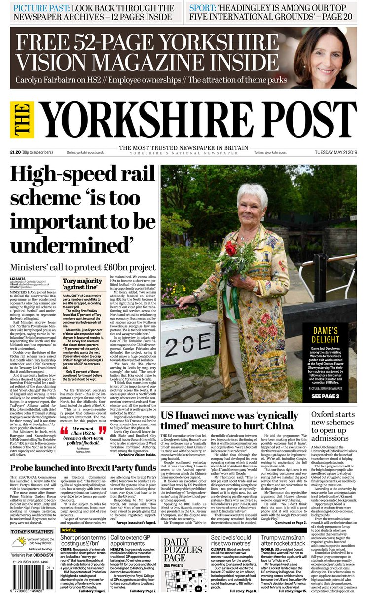 614b4e537d9 ... 10-page Business section, 12-page Picture Past supplement >>>> Plus a  52-page Yorkshire Vision #business magazine <<<< #buyapaperpic.twitter.com/  ...