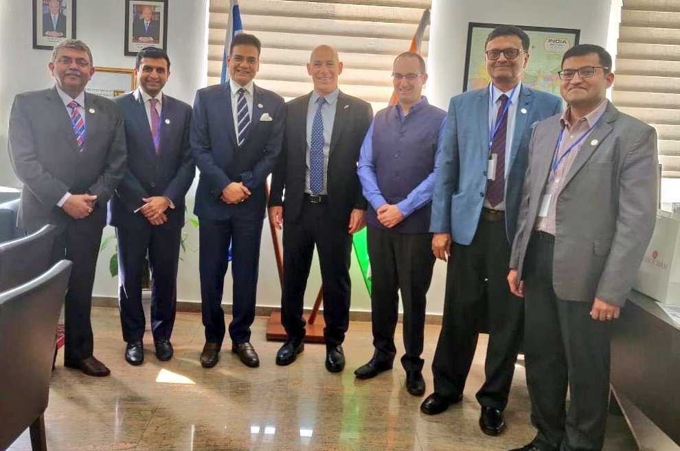 We had a wonderful meeting with @ASSOCHAM4India. Together we are aiming to be a human bridge in order to connect #SMEs from both #Israel and #India as part of our #GrowingPartnership 🇮🇱🇮🇳