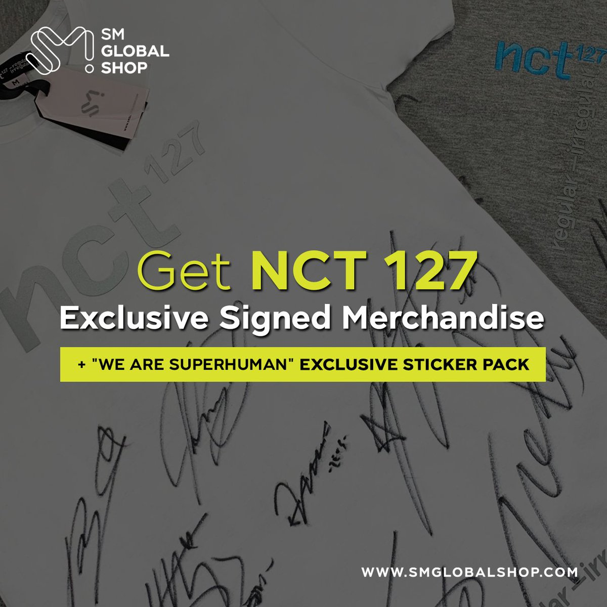 🎉NCT 127 Signed Merchandise Raffle & Exclusive Sticker Pack Event 🎉 For anyone who purchased a Pre-Order of 'WE ARE SUPERHUMAN', you will automatically receive ONE entry for a chance to win EXCLUSIVE SIGNED MD by NCT 127