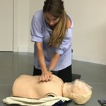 Image for the Tweet beginning: First aid training @UserZoom Barcelona