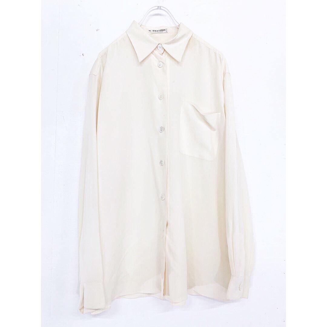"""GIORGIO ARMANI"" silk long sleeve shirt  セタシルクが使われております。 肌触りもよく着心地も最高です。  ¥6,000+tax  https://t.co/fh17UhhEJm"