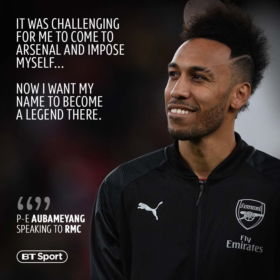 Pierre-Emerick Aubemeyang is loving life as a Gunner  <br>http://pic.twitter.com/H0MQvrKGSf