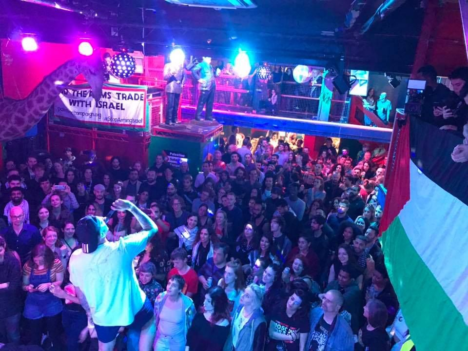 In dozens of European cities, thousands of people attended #ApartheidFreeEurovision parties and concerts last Saturday night, during the broadcast of @Eurovision from apartheid Tel Aviv.  Pictured: London, Madrid, Dublin and Valencia  #BoycottEurovision2019 #DareToDream<br>http://pic.twitter.com/6CQ2uyVLRf