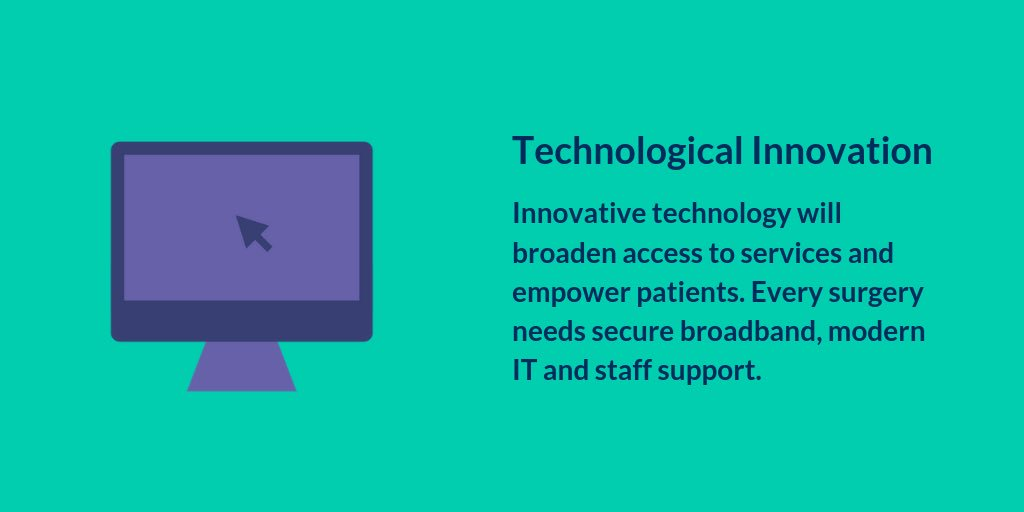 Technology from no more Windows XP and Fax Machines to access to the internet. More than basics we want the state of the art tech that will help GPs give the best care #FutureVisionGP