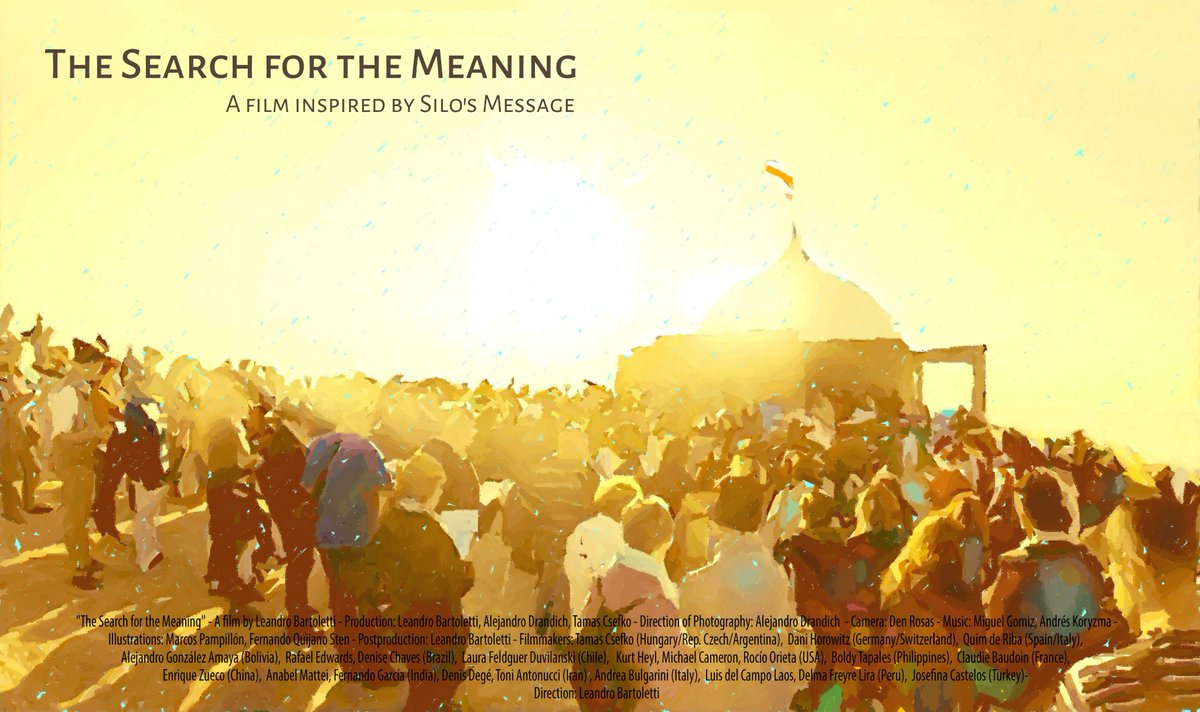 """""""The Search for The Meaning"""" is a collective experience, made with the audiovisual contribution of many people who record their spiritual life in 20 countries , to show a new spirituality that is being born.#cine #documental #documentary  #silo #mensaje #mensajedesilo #silo"""