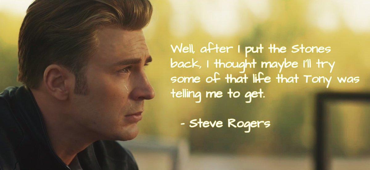 Last Message from Chris Evans as Steve Rogers #CaptainAmerica. #AvengersEndgame