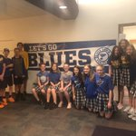 Image for the Tweet beginning: @CPOPGators 7th grade supporting @StLouisBlues
