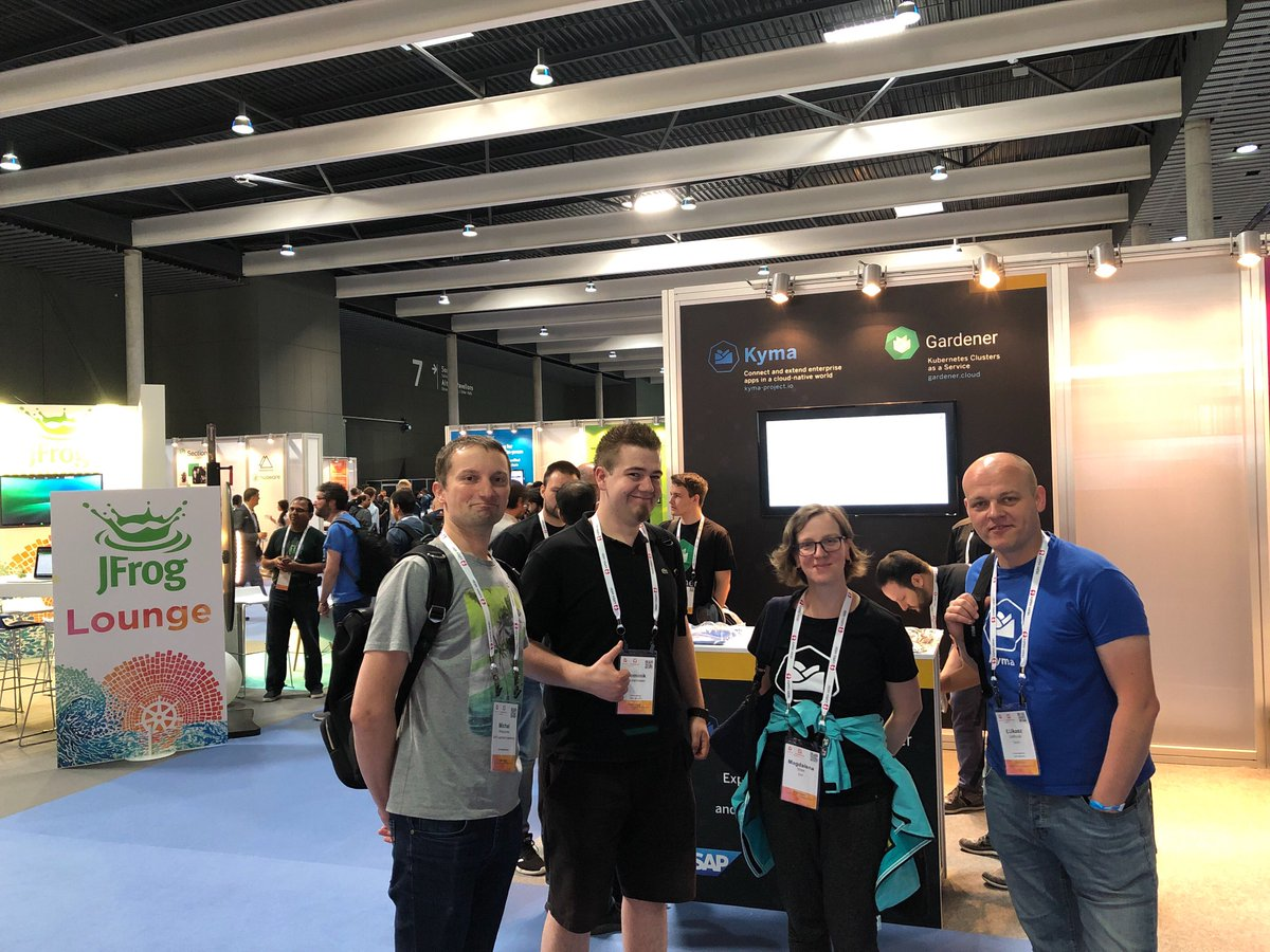Our #Kyma crew is attending #KubeCon day 1 today! Meet them at @SAP booth G10 area!