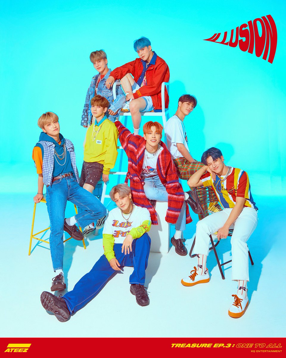 [📷] ATEEZ TREASURE EP.3 : One To All Title Poster 1  ALBUM RELEASE 2019. 6. 10 6PM  #One_To_All #ILLUSION #ATEEZ #에이티즈