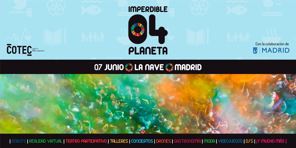 El festival de innovación #Imperdible_04 es de acceso gratuito y para todos los públicos. Ya se pueden adquirir las entradas a través de la web http://www.losimperdibles.es o desde la plataforma de Eventbrite 🎟️http://bit.ly/2JBtxzx
