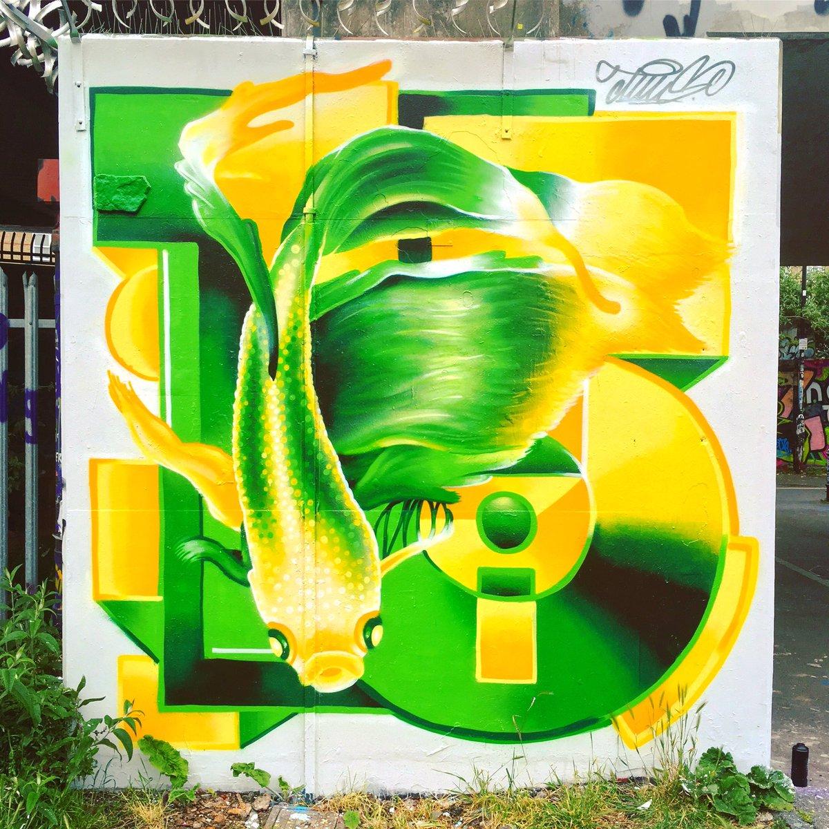 🎨 #tuis 🗺 Pedley Street, London E1 📆 May 2019 #bricklane #shoreditch #streetart #graffiti #goldfish #ldnstreetart https://t.co/YBaFu2vK4a