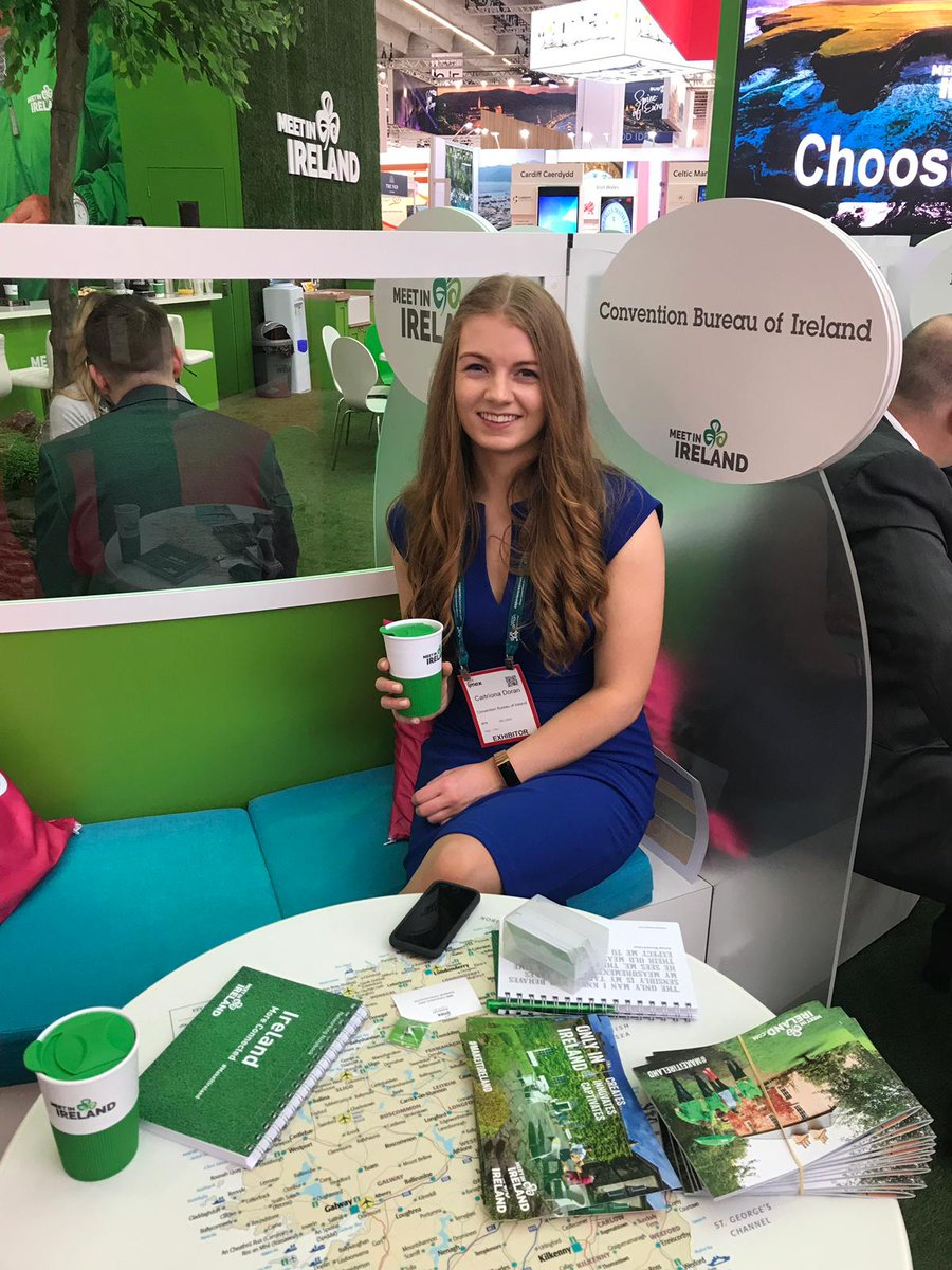 #Eventprofs; if you are attending #IMEX19, stop by the stand & chat to our #ConventionBureauxOfIreland rep Caitriona! She will be delighted to listen to your event requirements & share with you #MeetInKerry destinations, venues & experiences which would be an ideal fit☘