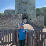 Here we are at Carisbrooke Castle