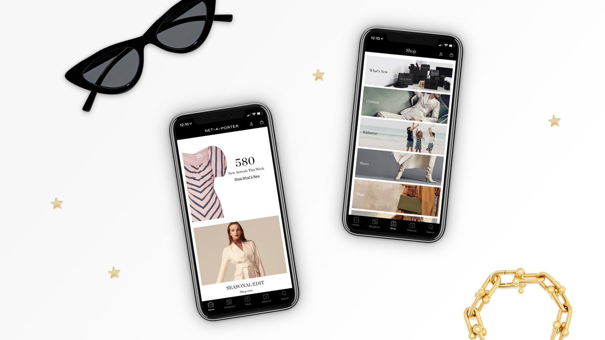 4180e8a0b5 ... launch of the new  NETAPORTER iOs app! Today