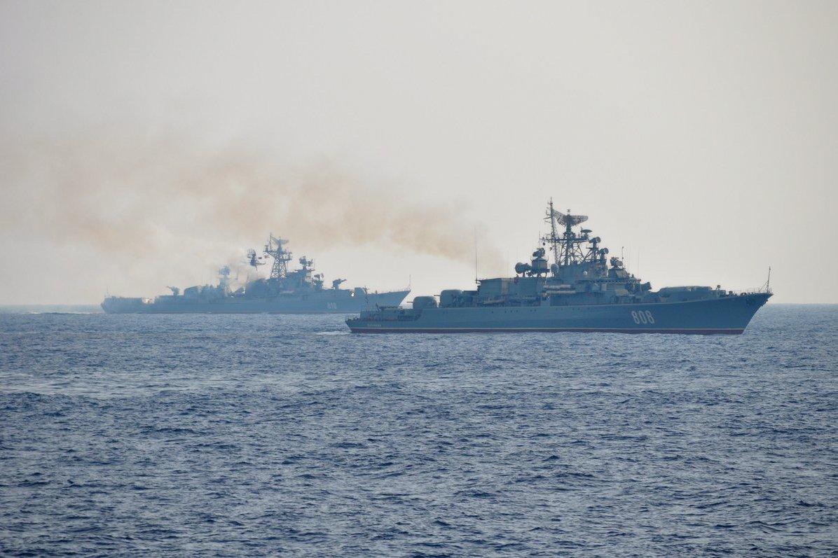 Корабли Черноморского флота вышли из Севастополя и Новороссийска на военные учения