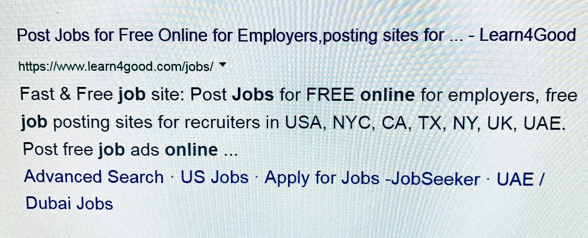 free job posting sites in uae