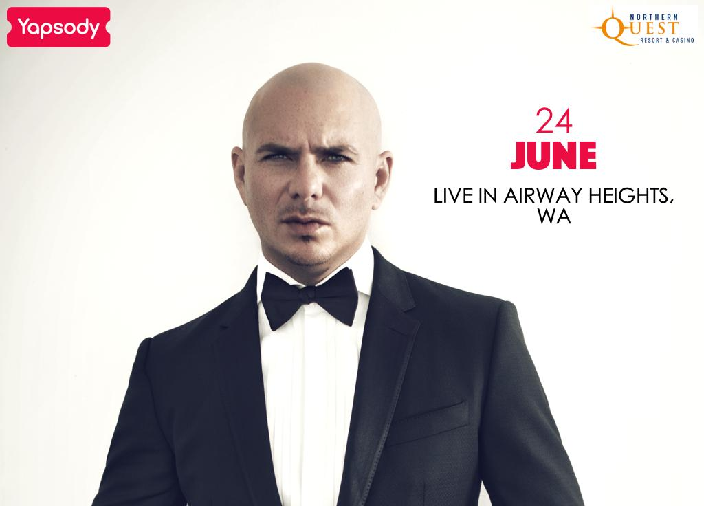 Get your tickets to watch @pitbull perform LIVE as he sets the stage on fire at @NorthernQuest Airway Heights, WA:  http:// bit.ly/2VBJQgZ  &nbsp;    #mrworldwide #pitbull #mr305 #concert #rap #tickets #internationallove  #planetpit #eventsinusa #airwayheights #washington #Yapsody<br>http://pic.twitter.com/T7v21egl0W