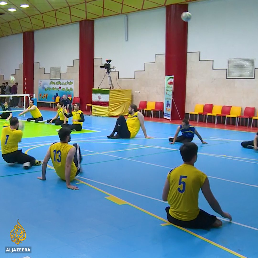 """""""We've been ranked first in the world for almost 20 years."""" Meet the Iranian mens sitting volleyball team 🏐"""
