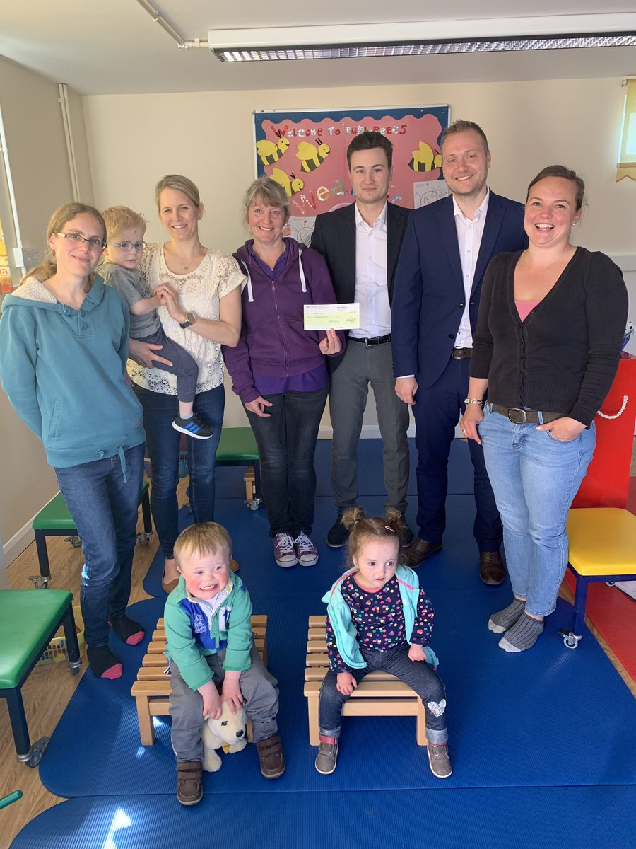 It was a pleasure this morning to visit @thehive2015 to deliver the #JTFV cheque. They are a great centre in Suffolk helping families to support babies and young children with physical difficulties.