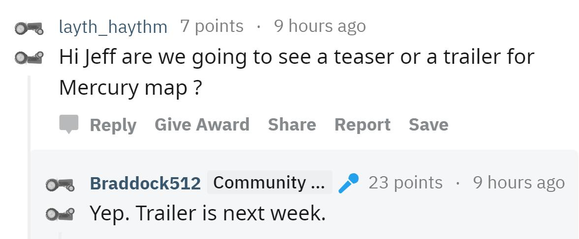 NEWS: A new trailer for #Battlefield V's Mercury Map is coming next week! 😎