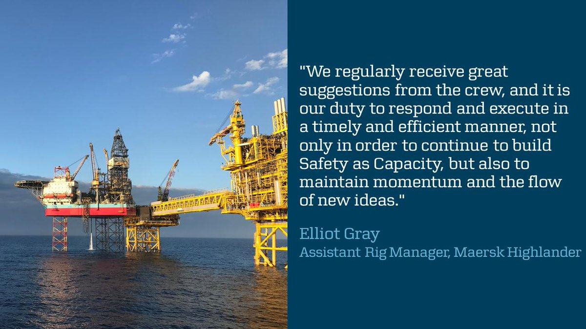 #MaerskHighlander won one of #MaerskDrilling's Out of Harm's Way Awards for increasing #safety when obtaining cement samples #offshore. Congrats #TeamHighlander on promoting better standards on our #rigs. #SmarterDrilling #SafetyasCapacity https://maerskd.co/Highlander