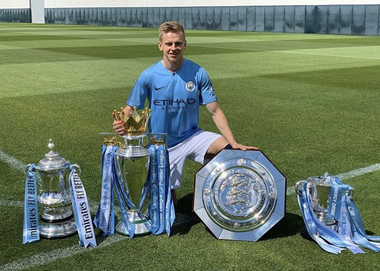 """Zinchenko: """"I'm very happy about my season, and I'm happy we've won nearly all the titles. But next season, we'll do it all again, huh?"""" #MCFC"""
