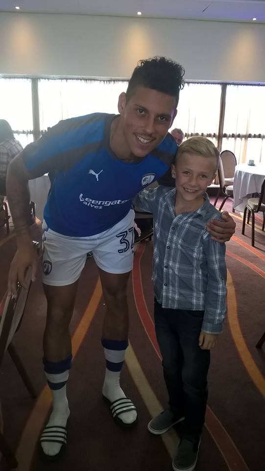 @AdamLeventhal That's excellent. Saw him play a couple of years ago in L2, for Chesterfield. He stood out a mile & got man of the match (pictured here after the game with my boy, who was buzzing). He played about 10 games & was released. Sad. Hope he gets back to league football.
