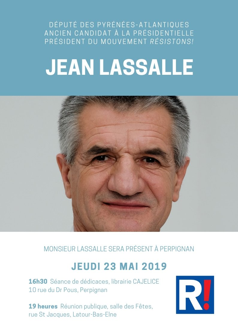 Rendez-vous à #Perpignan jeudi 23 mai à partir de 16h30 ! Je vous attends nombreux chers amis !