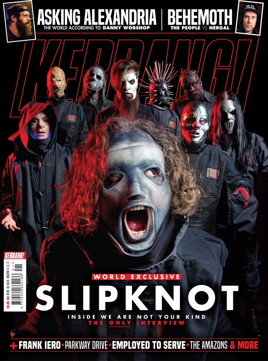 Slipknot: Inside We Are Not Your Kind – the only interview. Pre-order this week's issue – out Wednesday, May 22 – and get it delivered straight to your door, anywhere in the 🌍: Kerrang.Newsstand.co.uk