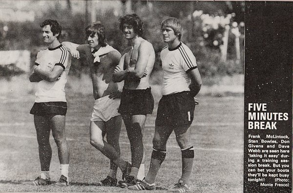 1976 #QPR Frank McLintock, Stan Bowles, Don Givens and David Webb <br>http://pic.twitter.com/0LkAXzkTgH