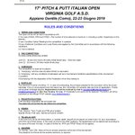 Image for the Tweet beginning: 17° PITCH & PUTT ITALIAN