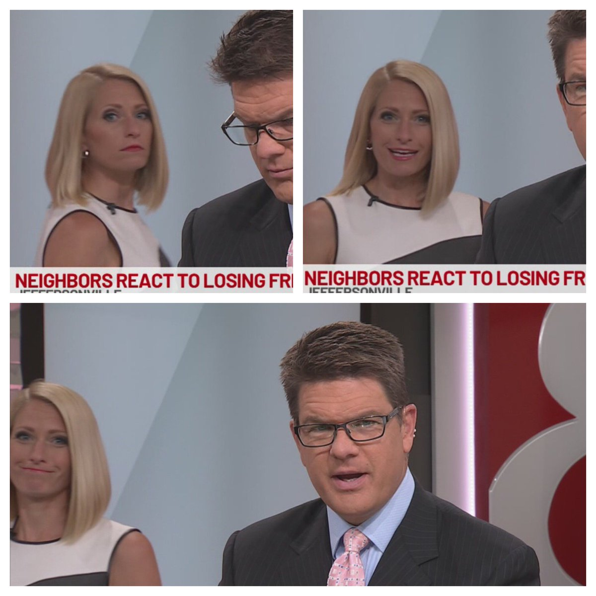 Step 1: Walk back to anchor desk during a soundbite that airs shorter than expected. Realize you&#39;re caught on camera. Step 2: Decide to start delivering the story when your co-anchor realizes he, too, is on screen. Step 3: Walk away knowing &quot;he&#39;s got this.&quot;  @WISH_TV #Daybreak8 <br>http://pic.twitter.com/A6iKEkJe17