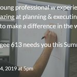 Image for the Tweet beginning: Organized young professional w experience