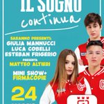 "Image for the Tweet beginning: ""Il sogno continua"", i beniamini"