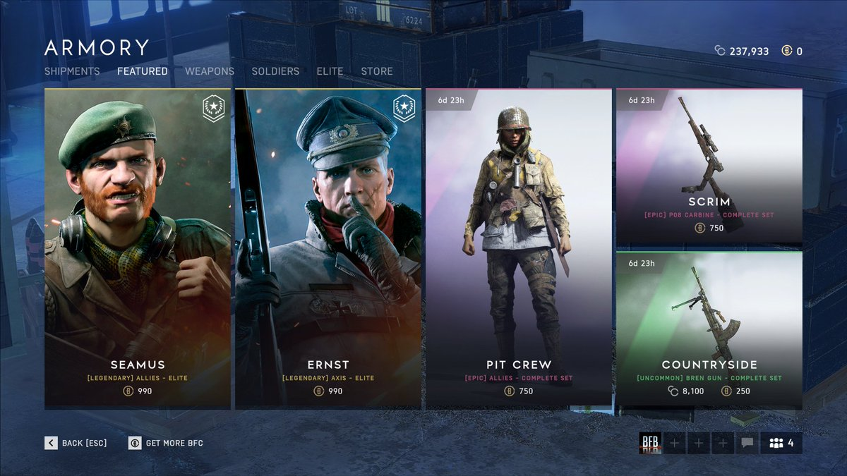 NEWS: The #Battlefield V Armory section has been updated today.