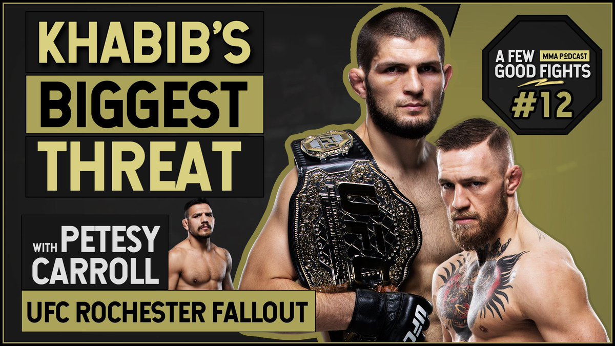 WATCH | @PetesyCarroll joins us to breakdown the big moments from #UFCRochester & #KSW49. Plus we react to Javier Mendez's claim that McGregor is still Khabib's greatest threat. https://www.youtube.com/watch?v=ywIZpLbqOZY…