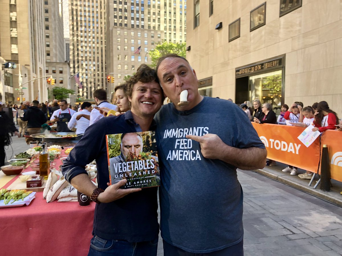 It's been a long journey with this man. 2 years, 20,000 miles, 1000 pounds of vegetables, 127 failed experiments, all to create this love letter to the vegetable world with my hero and partner @chefjoseandres. Vegetables Unleashed is out today. https://www.amazon.com/Vegetables-Unleashed-Cookbook-Jose-Andres/dp/0062668382…