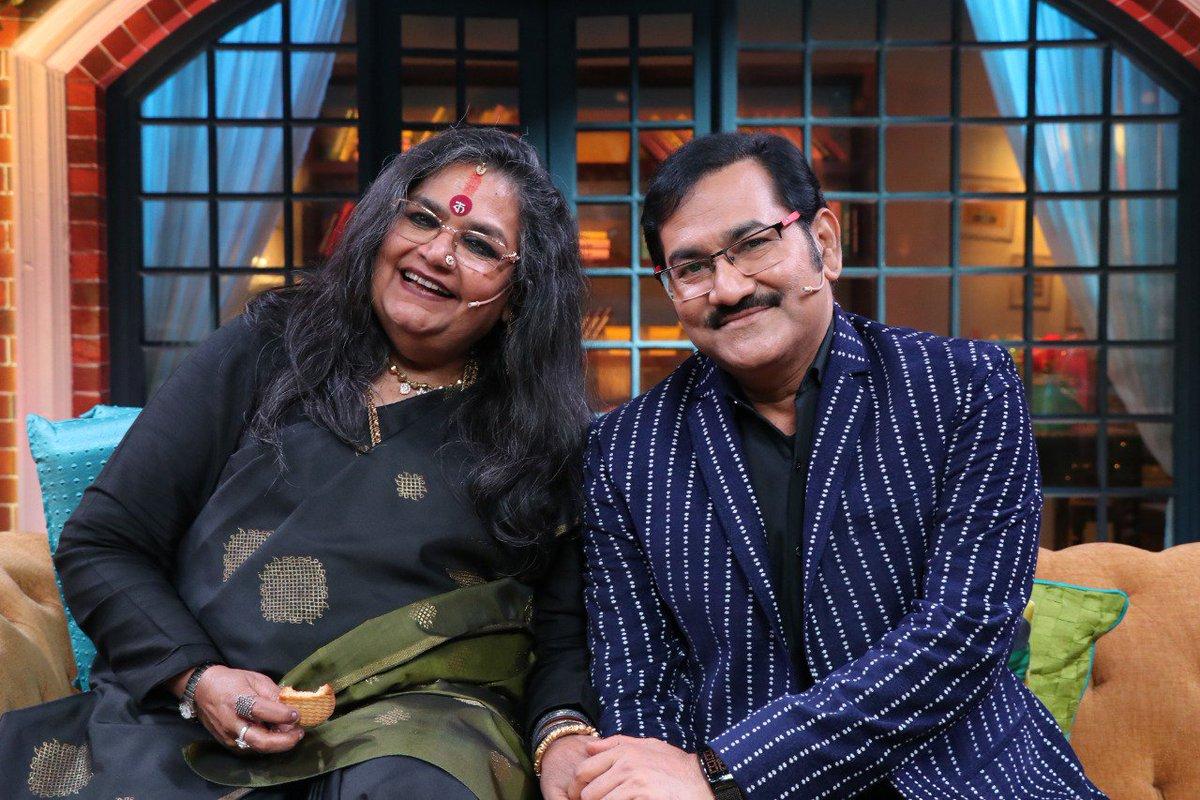 #Legendary #singers #UshaUttup and #SudeshBhosle have a gala time on #TheKapilSharmaShow   #KapilSharma #kapilsharmashow #SonyTV #legend #legends   @KapilSharmaK9 @SonyTV