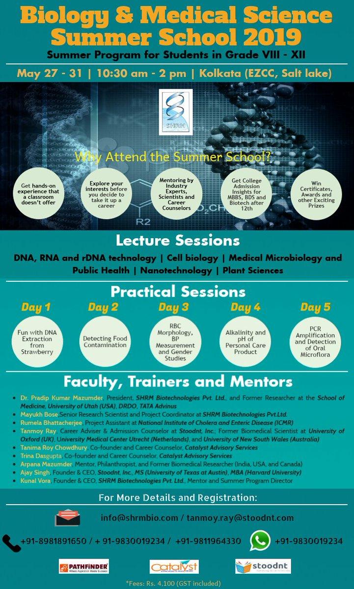 #Biology #medicine #biotech #SummerCamp #Kolkata  Register at https://forms.gle/YSNh6Y8LR2GKb3AP7…  @Calcutta_Times @CALCUTTAPOLO @calcutta @IIM_Calcutta @IITKgp @IsKolkata @whatsupkolkata @WhatsHotKolkata @Telegraph @timesofindia @abpnewstv @news_kolkata @Arundhuti26 @etr_in @chegg_india