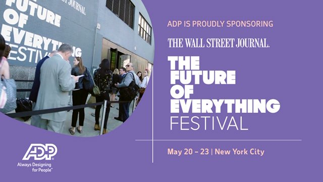 What lies ahead for the future workforce? @ADP will deliver insights on the future of pay at the @WSJ's Future of Everything Festival. #WSJFuture #WorkingFor