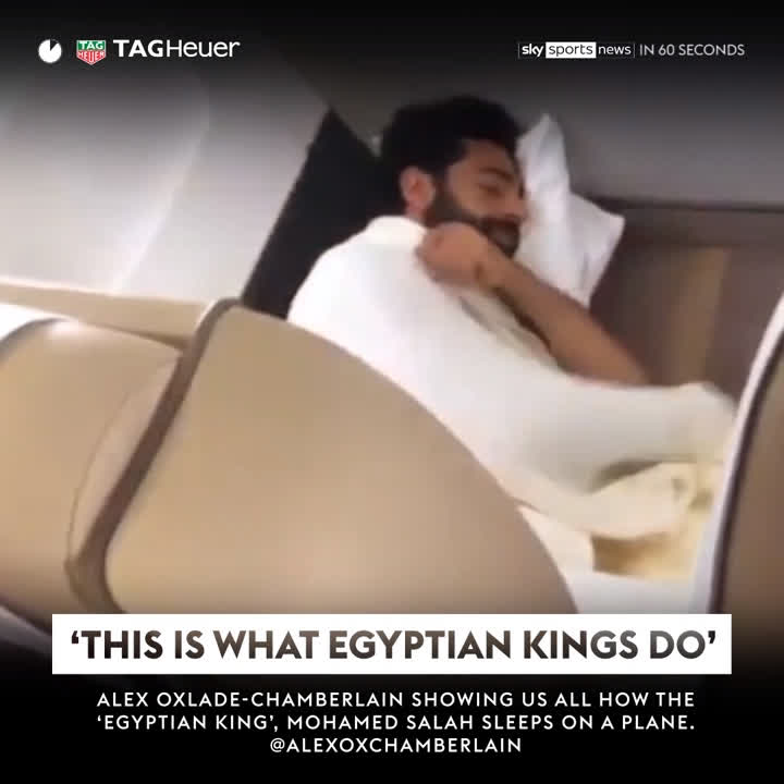 😴👑 - The sleeping Egyptian king! 🏆 - Im ready for the World Cup! 💥 - Ankle breakers in the NBA! Its Sky Sports News in 60 seconds with @TAGHeuer! #ICYMI