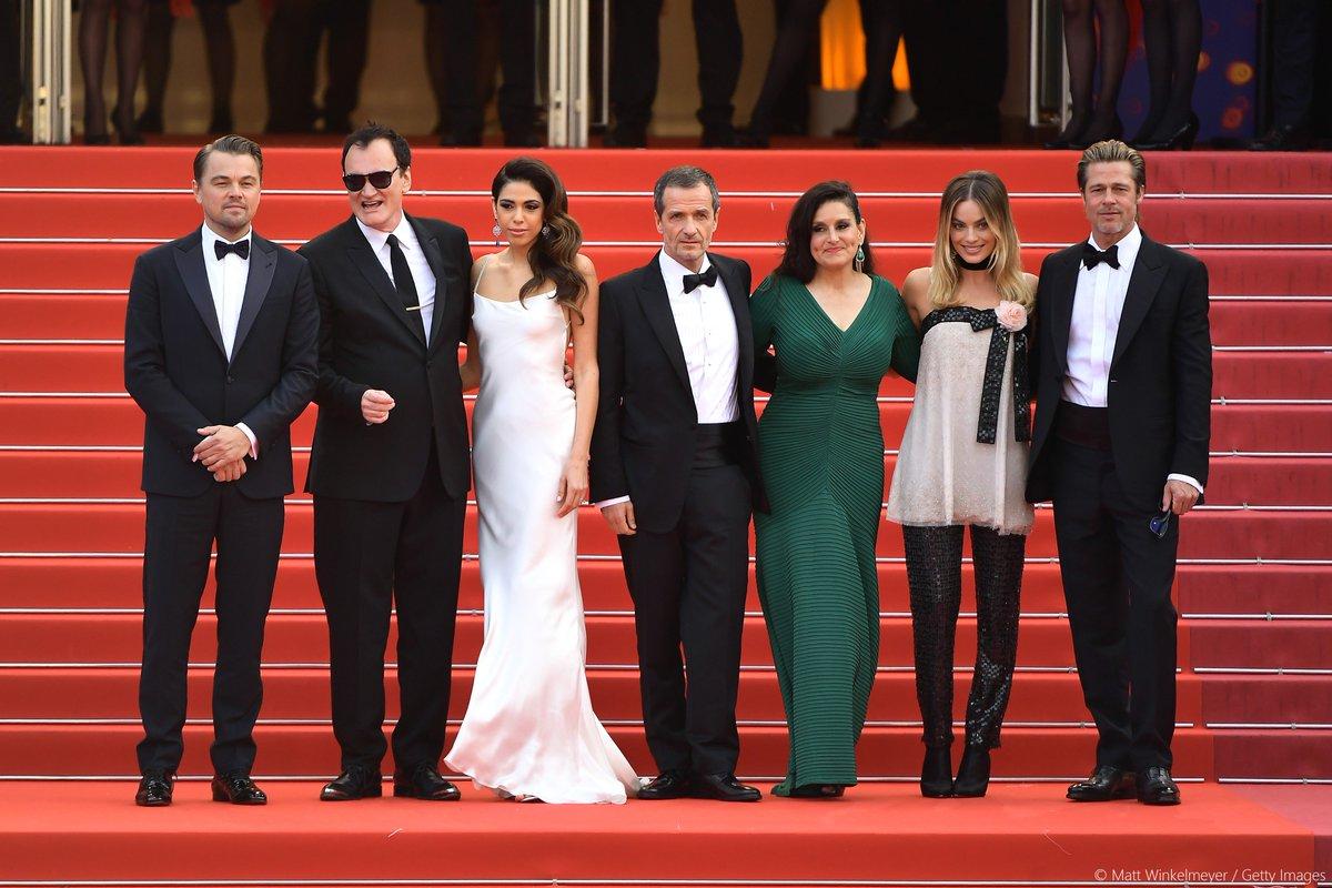 Tarantino et son équipe sur le tapis rouge