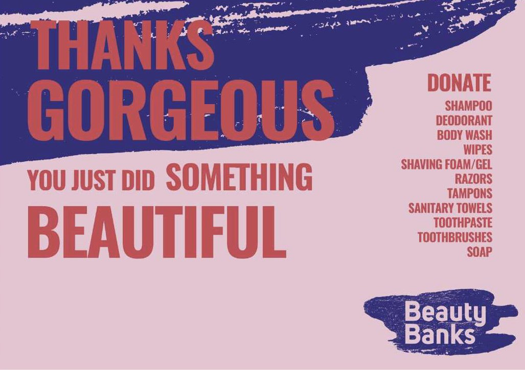 A year ago, inspired by @salihughes, I set up a Beauty Bank in Sunderland which has helped so many people and thrived in ways I never imagined.   I am so pleased to announce that it now an official branch of #beautybanks, please support and follow @BeautyBanksSun