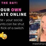 TIP OF THE DAY - Have your own Real Estate online i.e. get a website - your Social Media accounts can be shut down!  #blog #blogging #entrepreneur #networkmarketing #homebiz #twittermarketing