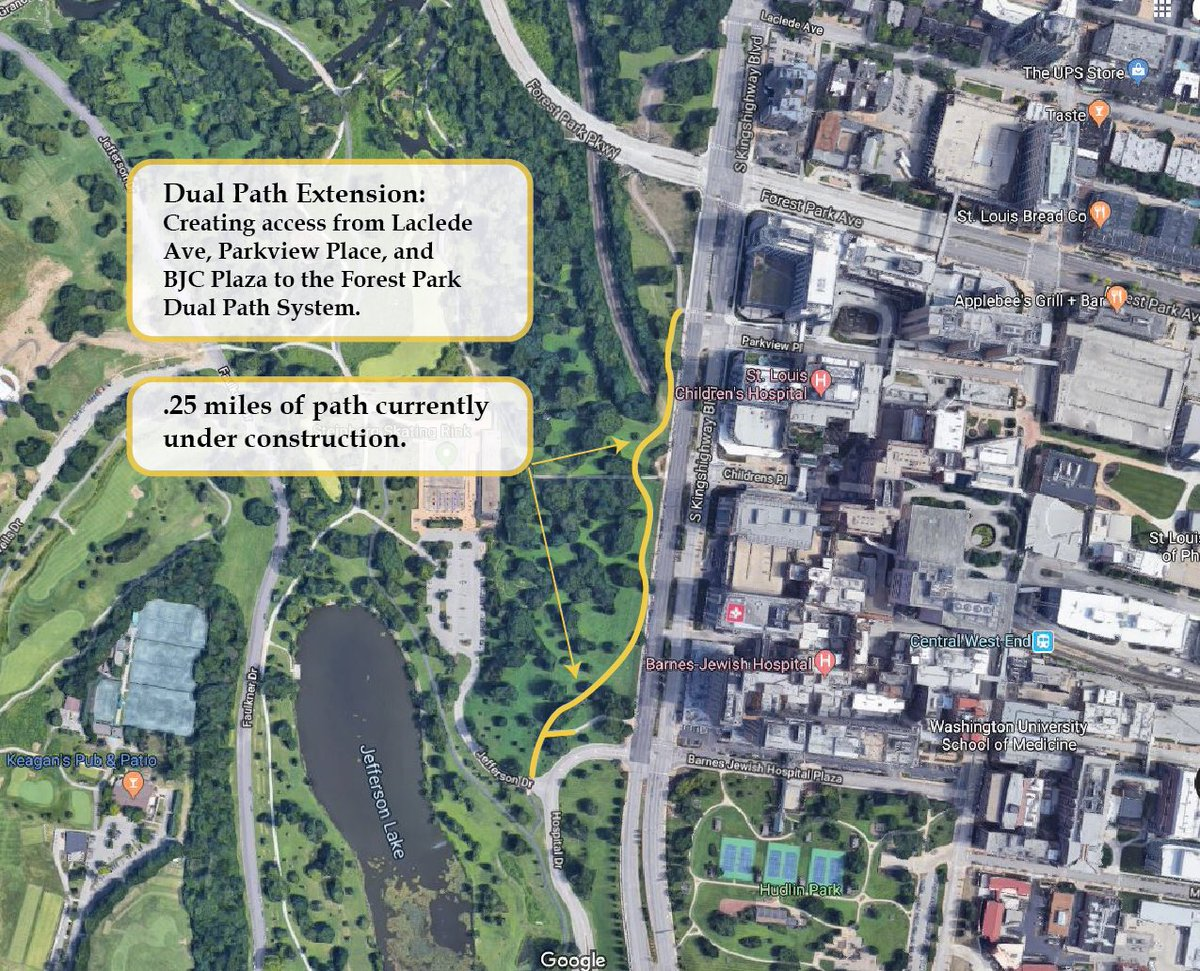 Under construction now in Forest Park, .25 miles of new trail that creates multiple access points into the park's dual-path system across Kingshighway: <br>http://pic.twitter.com/3YKF5jZfEe