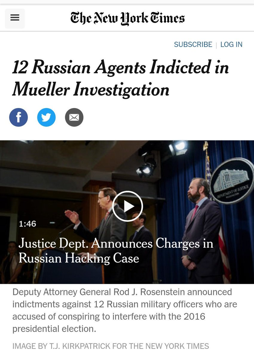 Republicans want to say there can&#39;t be obstruction if there was no crime.  On its own this is without foundation. Ask Martha Stewart.  BUT THERE WAS A CRIME!  12 Russians were indicted for CRIMES related to the criminal hack of the DNC.  Putin wants Trump wants to cover that up <br>http://pic.twitter.com/GaJQqSfNGB