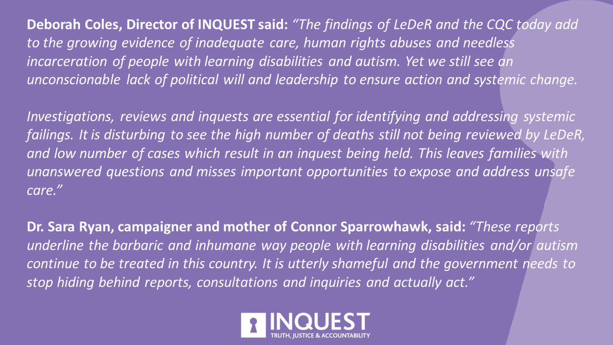 Autism And Ill Health How To Spot >> Inquest S Tweet Today The Learning Disabilities Mortality