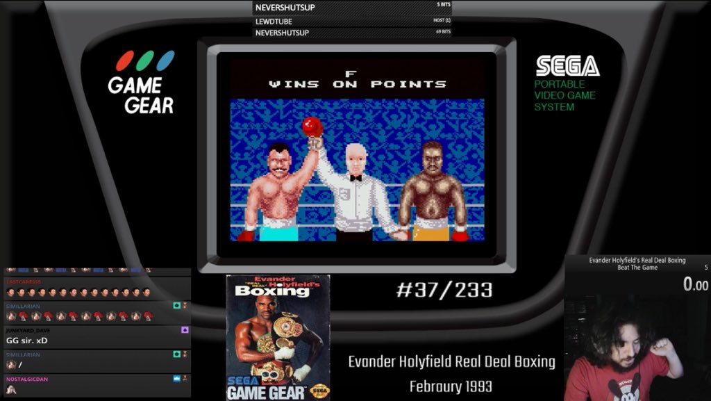 Last night was one for the ages. I beat what was easily one of the toughest (and worst) games I've ever taken down. 5 nights in a row, about 7 hours just on the final opponent, and with a bit of luck, we did it. Evander Holyfield is done, we start NHL Hockey tonight at 8pm EST <br>http://pic.twitter.com/W6mhpFHwWL